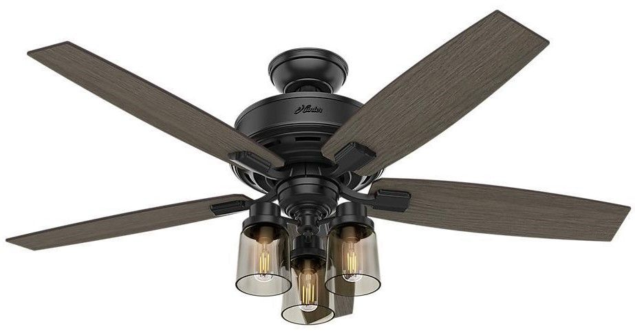52 Inch Ceiling Fan With Light Kit And Reversible Blades