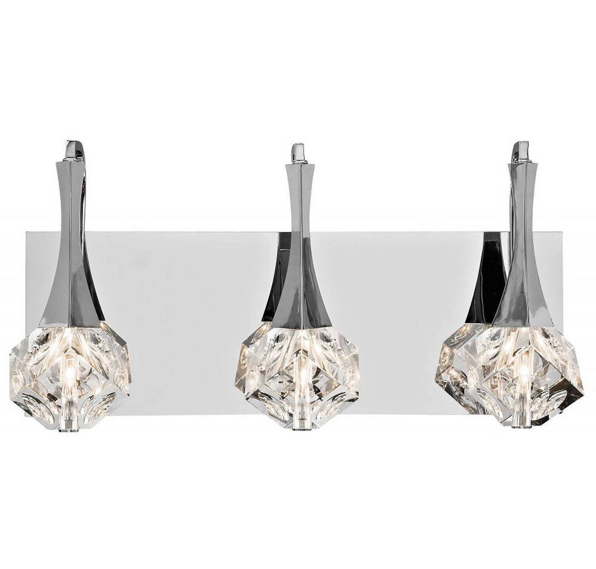 Elan Rockne 17 8 3 Light Crystal Bathroom Vanity Light In Chrome
