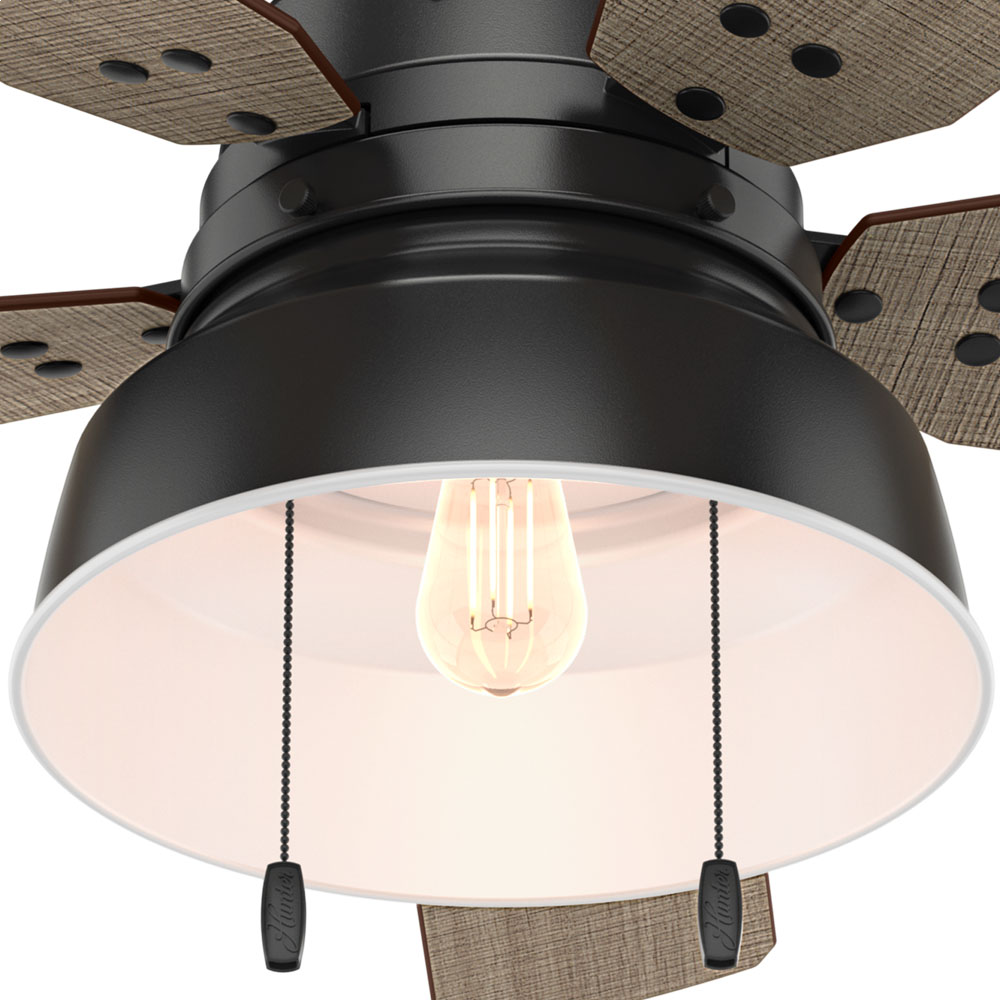 Hunter Mill Valley 52 Quot Indoor Outdoor Ceiling Fan In Matte Black Modern Farmhouse Ceiling Fans