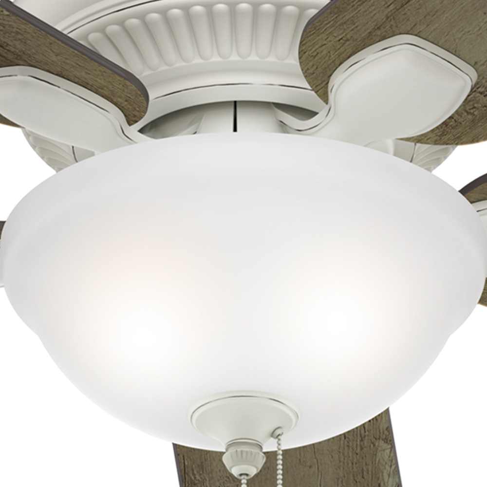 Hunter Matheston 2 Light 52 Quot Indoor Outdoor Ceiling Fan In Cottage White Modern Farmhouse