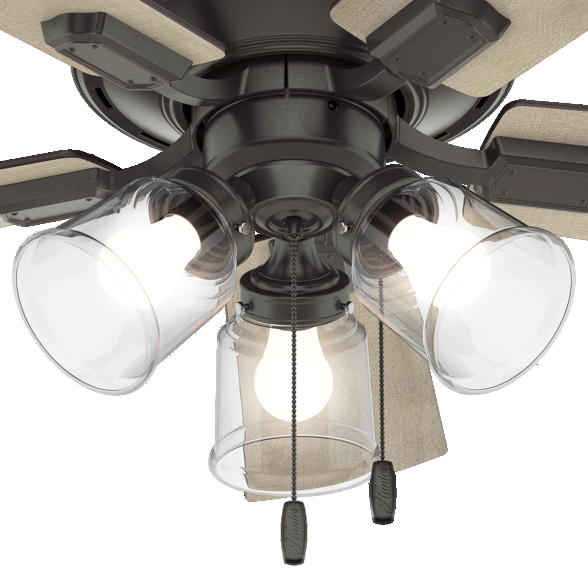 Hunter Crestfield Low Profile 3 Light 42 Quot Indoor Ceiling