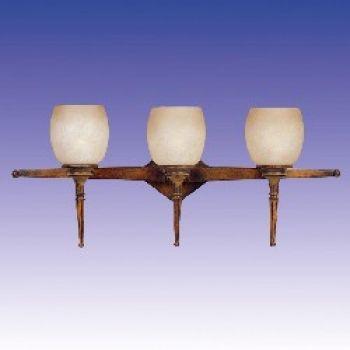 Maxim Lighting Olympia 3-Light 3-Light Bathroom Vanity Light in Burnt Parchment