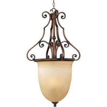 Maxim Lighting La Scalla 3-Light 3-Light Entry Foyer Pendant in Weathered Copper
