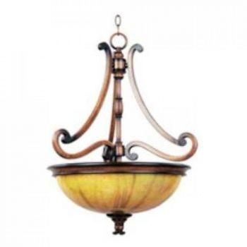 Maxim Lighting Marquis 3-Light 3-Light Invert Bowl Pendant in Umber Wormwood