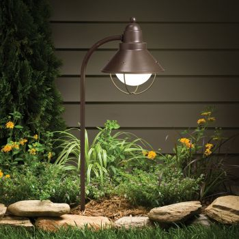 "Kichler Seaside Marine 26.25"" Path & Spread Landscape Light in Olde Bronze"