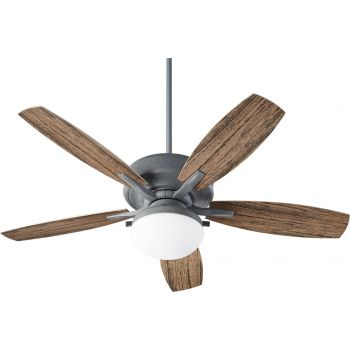 "Quorum Eden 2-Light 52"" Outdoor Ceiling Fan in Zinc"