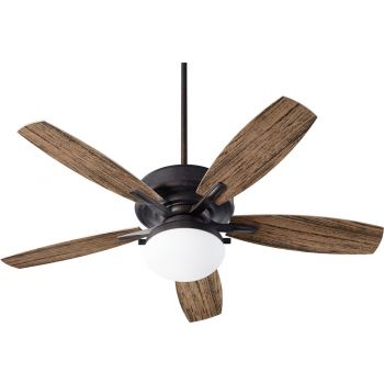 "Quorum Eden 2-Light 52"" Outdoor Ceiling Fan in Toasted Sienna"