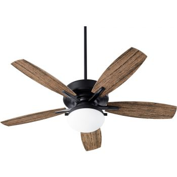 "Quorum Eden 2-Light 52"" Outdoor Ceiling Fan in Noir"