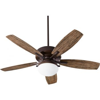 "Quorum Eden 2-Light 52"" Outdoor Ceiling Fan in Oiled Bronze"