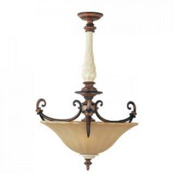 Maxim Lighting Cumberland 3-Light 3-Light Invert Bowl Pendant in Savanna Bronze