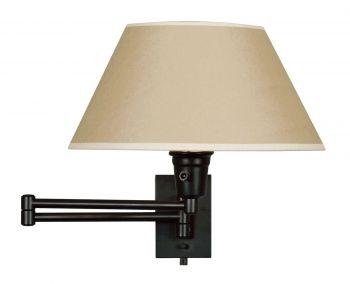 Kenroy Home Simplicity Swing Arm Wall Lamp in Matte Black