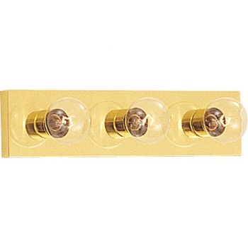 Maxim Lighting Essentials - 445x 3-Light 3-Light Bathroom Vanity Light in Polished Brass