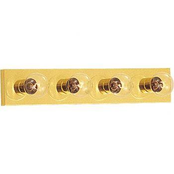 Maxim Lighting Essentials - 445x 4-Light 4-Light Bathroom Vanity Light in Polished Brass