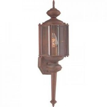 Maxim Lighting Maxim 1-Light Outdoor Wall Mount in Brushed Pewter