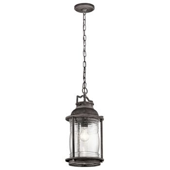 Kichler Ashland Bay Outdoor Hanging Pendant in Weathered Zinc