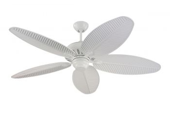 "Monte Carlo 52"" Cruise Outdoor Wet Rated Ceiling Fan in White"