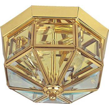 Maxim Lighting Maxim 4-Light Flush Mount in Polished Brass