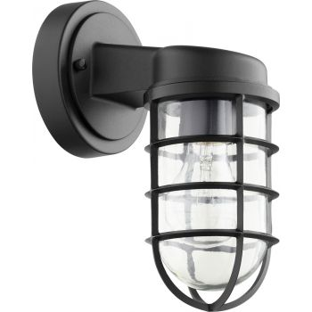 "Quorum Belfour 10"" Outdoor Wall Light in Noir"