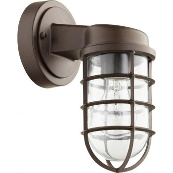 "Quorum Belfour 10"" Outdoor Wall Light in Oiled Bronze"