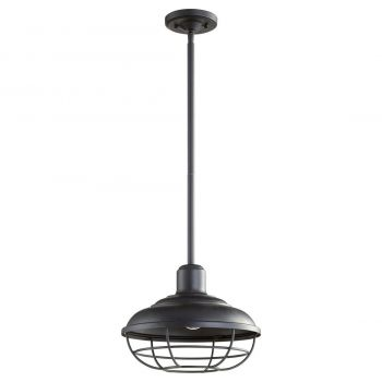 "Quorum Tansley 9"" Outdoor Wall Light in Noir"