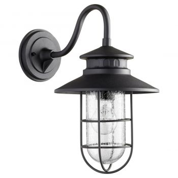 "Quorum Moriarty 16"" Outdoor Wall Light in Noir"