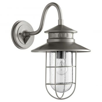 "Quorum Moriarty 19"" Outdoor Wall Light in Graphite"
