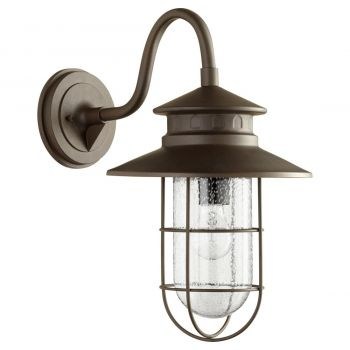 "Quorum Moriarty 19"" Outdoor Wall Light in Oiled Bronze"