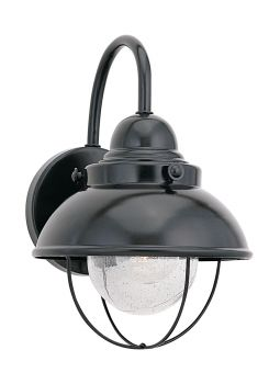 Sea Gull Lighting Sebring 1-Light Outdoor Wall Lantern in Black