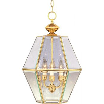 Maxim Lighting Bound Glass 3-Light 3-Light Entry Foyer Pendant in White
