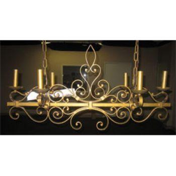Maxim Lighting 6-Light 6-Light Chandelier in Etruscan Gold