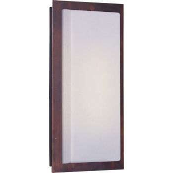 """ET2 Beam II 16"""" Outdoor White Glass Wall Mount in Oil Rubbed Bronze"""