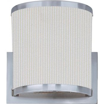 ET2 Elements Xenon Wall Light in Satin Nickel & White Pleat Shade