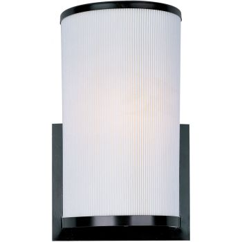 ET2 Elements Fluorescent Wall Light in Bronze & Pleated White Shade