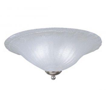 """ET2 6"""" 2-Light LED White Glass Wall Sconce in Chrome"""