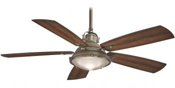 "Minka-Aire Groton 56"" Indoor/Outdoor Ceiling Fan in Weathered Aluminum"