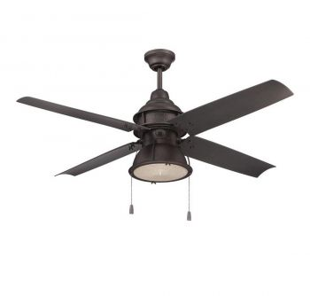 "Craftmade 52"" Port Arbor Ceiling Fan in Espresso"