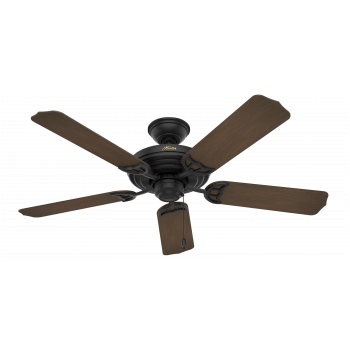 "Hunter Sea Air 52"" Indoor/Outdoor Ceiling Fan in Textured Matte Black"