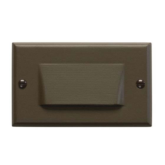 """Kichler Step and Hall 4.5"""" LED Shielded Step Light in Architectural Bronze"""