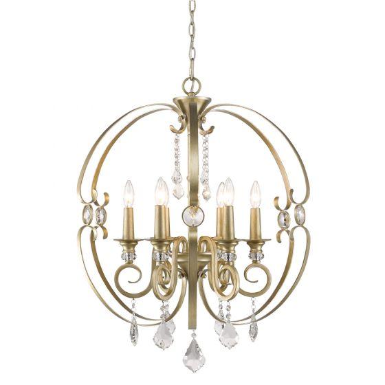 Golden Lighting Ella 6 Light Globe Chandelier