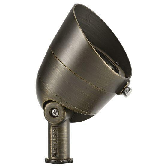 Kichler Landscape LED 300 Lumen 10 Degree Outdoor Spot Light in Centennial Brass