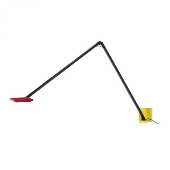 """Sonneman Quattro 5.5"""" Double Arm LED Wall Lamp in Red/Yellow/Black"""