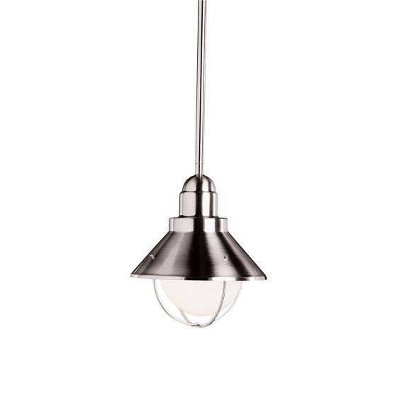 Kichler Seaside Outdoor Pendant in Brushed Nickel