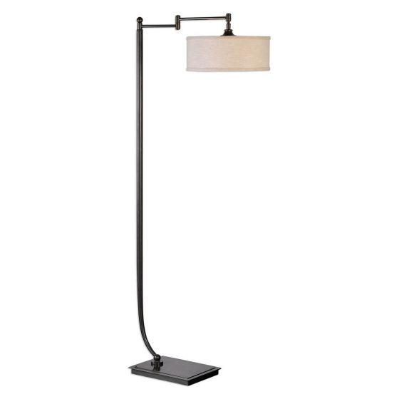"Uttermost Lamine 62"" Floor Lamp in Dark Bronze"