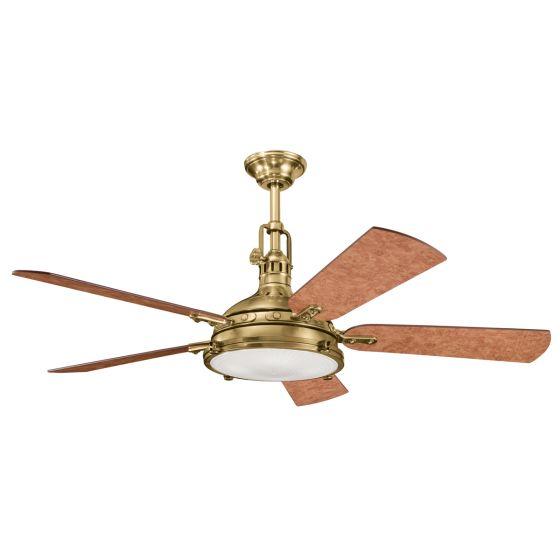 "Kichler Hatteras Bay 56"" Ceiling Fan in Burnished Antique Brass"