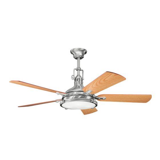 "Kichler Hatteras Bay 56"" Ceiling Fan in Brushed Stainless Steel"