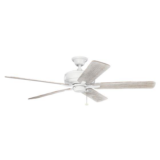 """Kichler Terra 60"""" Ceiling Fan in Matte White"""