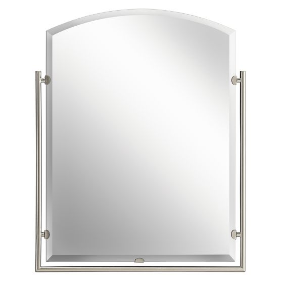 "Kichler Structures 30"" Mirror in Brushed Nickel"