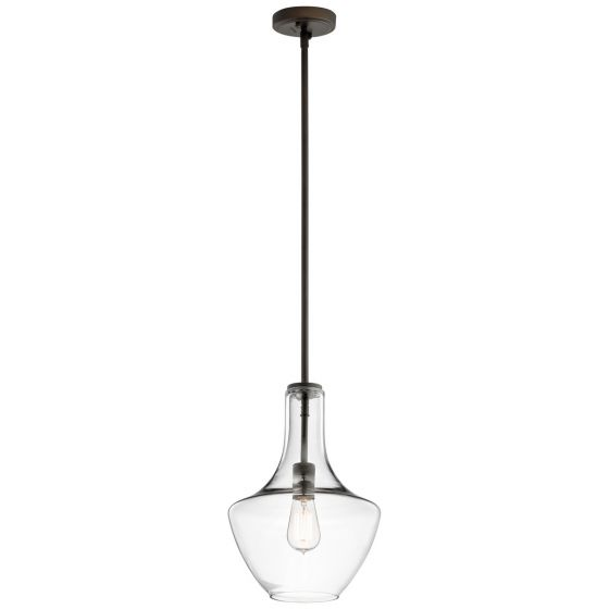 "Kichler Everly 10.5"" Pendant in Olde Bronze"