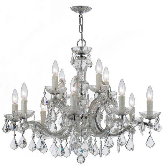 Crystorama Maria Theresa 12-Light Hand Cut Crystal Chandelier
