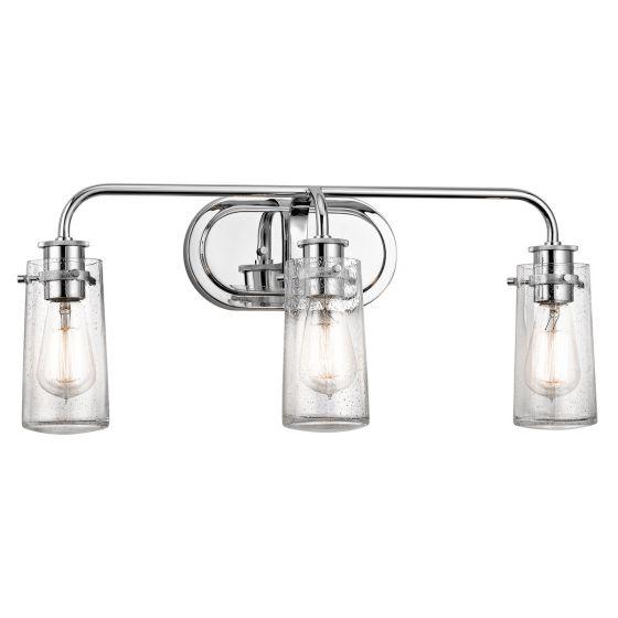 Kichler Braelyn 3-Light Bathroom Vanity Light in Chrome